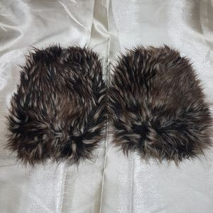 Faux Fur Shorter Boot Covers/ Leg Warmers
